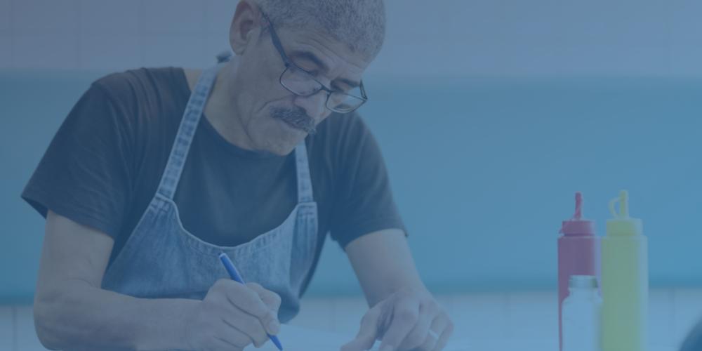Restaurant Owner Developing Recipes